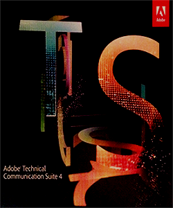 Scan of the Adobe TCS4 software cover by TechCommGeekMom