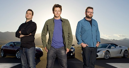 Top Gear America hosts.  L to R: Adam Ferrara, Tanner Foust, and Rutledge Wood.