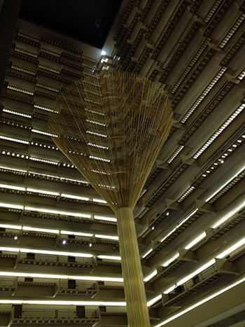 The Grand Hyatt in Atlanta was huge! This structure in the middle of the hotel's main lobby certainly captured one's attention!