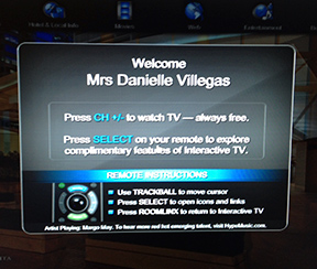 This was the greeting I had on the TV in my hotel room. I just thought this was cool. I was already feeling rather welcomed!