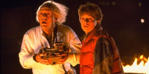 Doc and Marty McFly can't believe the fabulous information they are getting at Adobe Day @STC Summit 2014 . (They already went, and said it was fantastic--not to be missed!)