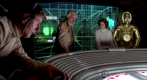 "Princess Leia is thinking, ""Geez, I hope these guys understand how to update my laptop."""