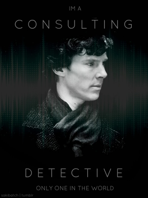Even Sherlock Holmes has a hard time as a consultant in his field. (image from tomandbensbitch.tumblr.com)