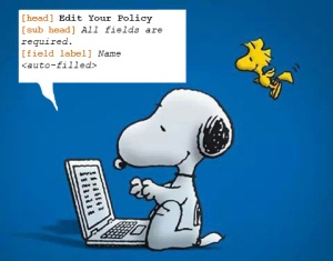 Snoopy and Woodstock are writing the copy deck. It's a lot of work, but they are learning a lot!