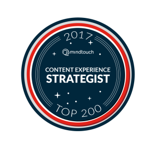 2017 Mindtouch Top 200 Content Strategists
